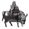 Japanese bronze figure of a sage on a cow - image 3