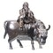 Japanese bronze figure of a sage on a cow - image 2