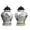 Pair Chinese jars with wood covers - image 3