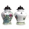 Pair Chinese jars with wood covers - image 4