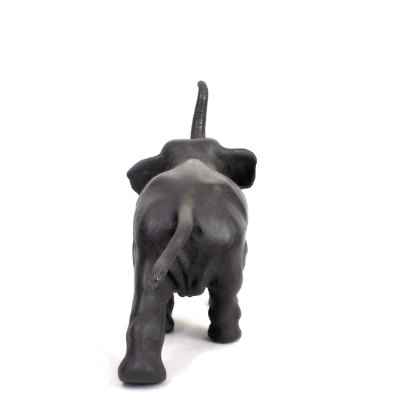 Japanese bronze elephant okimono - image 3