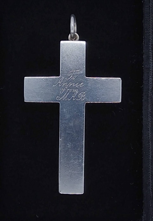 Antique Silver Cross - image 3
