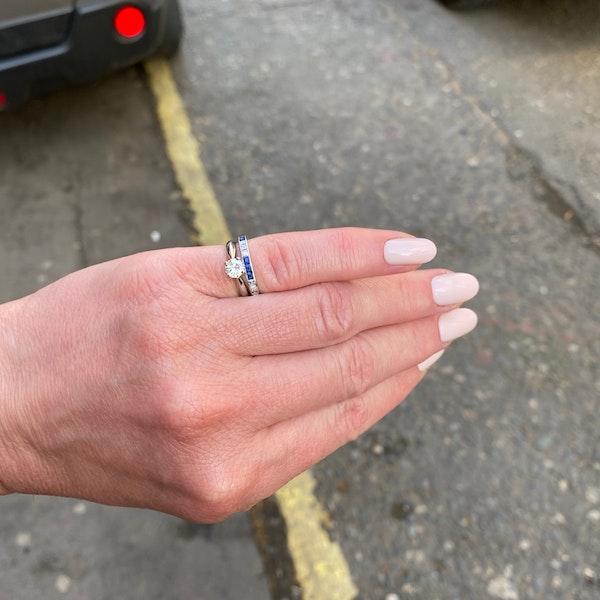 Sapphire Diamond Eternity Ring in 18ct White Gold date circa1970 SHAPIRO & Co since1979 - image 7