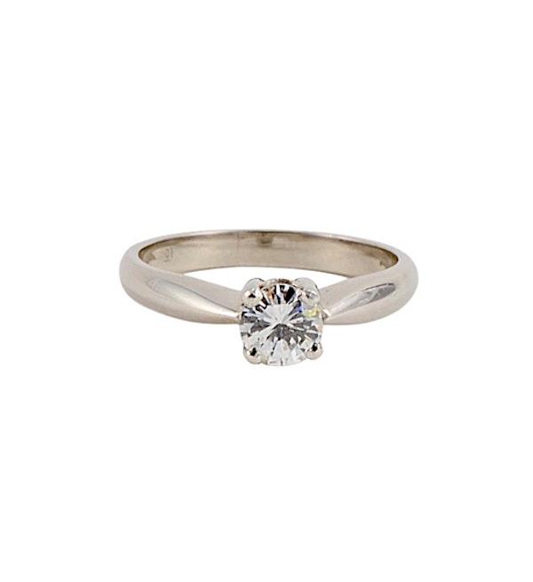 Solitaire Diamond Ring in Platinum Diamond 0.50ct date circa1970 SHAPIRO & Co since1979 - image 1