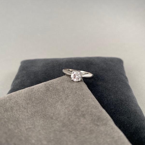 Solitaire Diamond Ring in Platinum Diamond 0.50ct date circa1970 SHAPIRO & Co since1979 - image 3