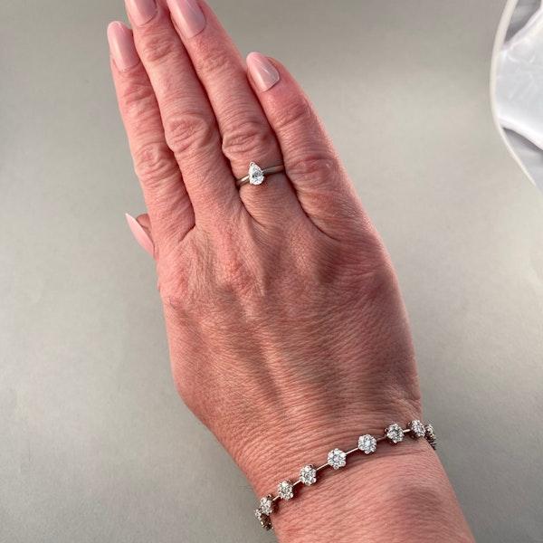 Diamond Bracelet in 18ct White Gold date circa1960  SHAPIRO & Co since1979 - image 6