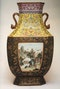 AN EXTREMELY FINE FACETTED FAMILLE ROSE VASE, QIANLONG (1736 - 1795) - image 1