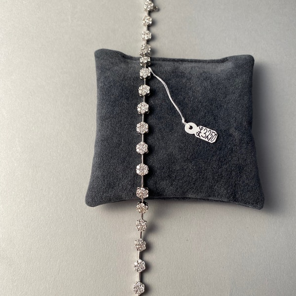 Diamond Bracelet in 18ct White Gold date circa1960  SHAPIRO & Co since1979 - image 5