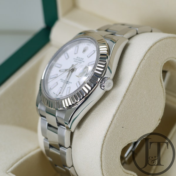 Rolex Datejust II 41mm 116334 White Dial Oyster - image 5