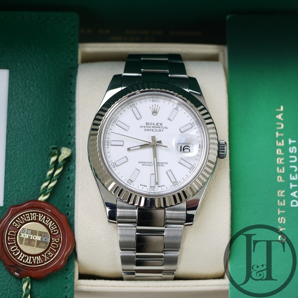 Rolex Datejust II 41mm 116334 White Dial Oyster - image 9