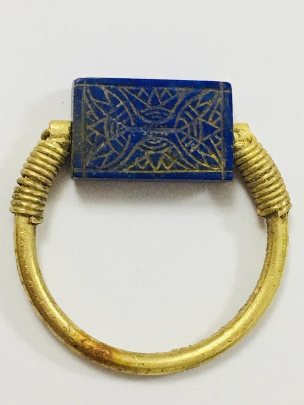 Egyptian gold and lapis lazuli - image 2