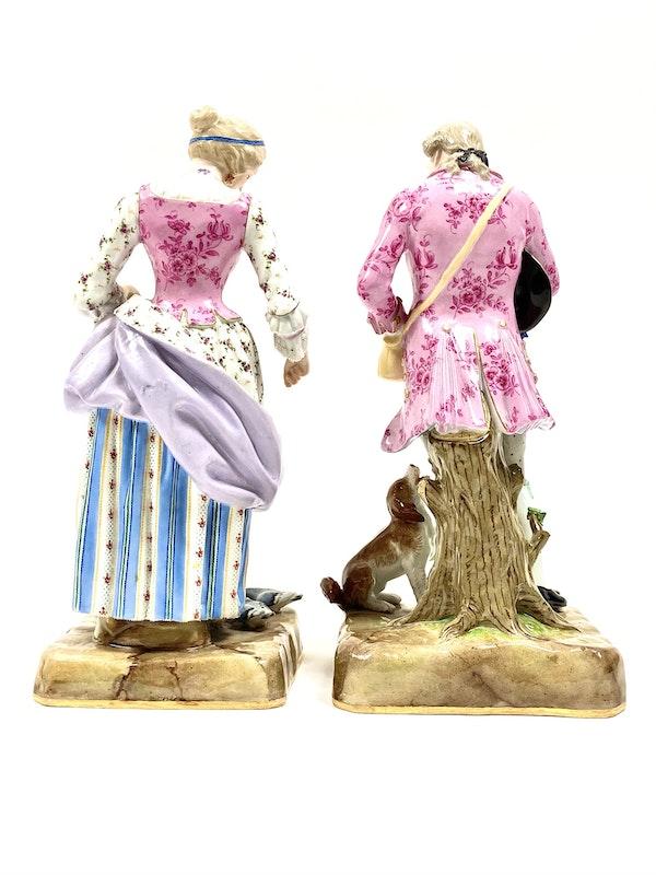 Pair of 19th century Meissen figures - image 4