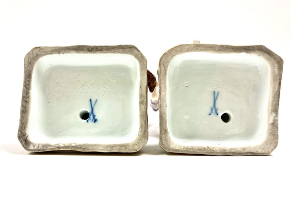 Pair of 19th century Meissen figures - image 7