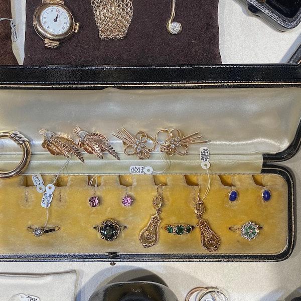 Lapis Lazuli Earrings in 18ct Gold date circa 1960 SHAPIRO & Co since1979 - image 5