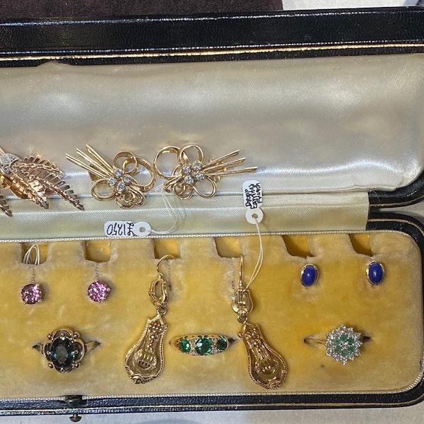 Lapis Lazuli Earrings in 18ct Gold date circa 1960 SHAPIRO & Co since1979 - image 4