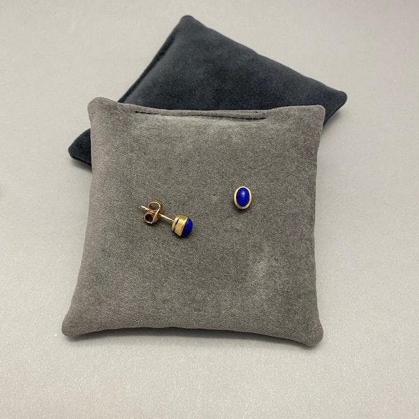 Lapis Lazuli Earrings in 18ct Gold date circa 1960 SHAPIRO & Co since1979 - image 2