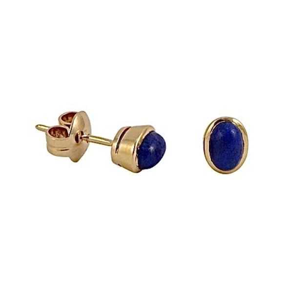 Lapis Lazuli Earrings in 18ct Gold date circa 1960 SHAPIRO & Co since1979 - image 6