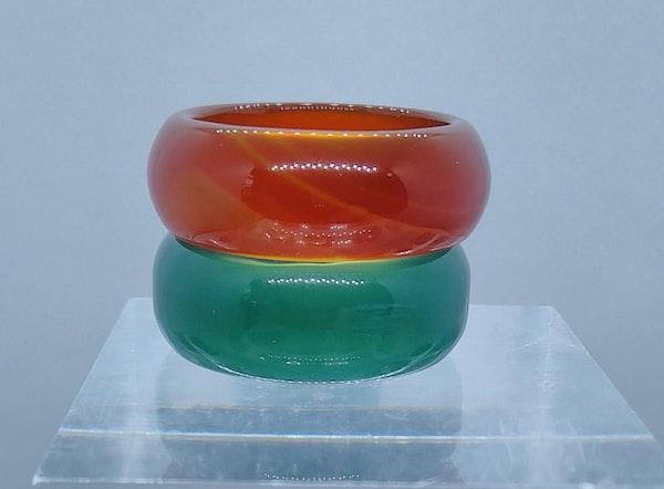 Modern Jade Band Rings - image 6