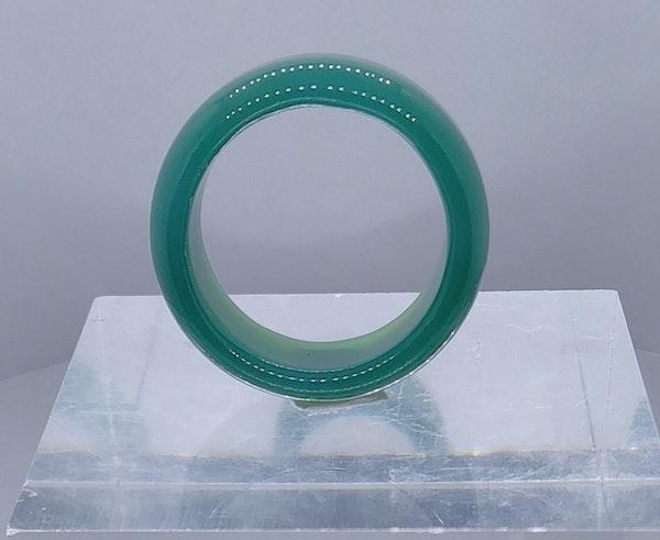 Modern Jade Band Rings - image 8