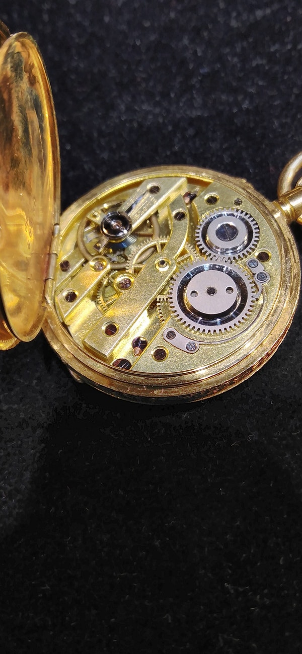 Antique Lady's Half Hunter Pocket Watch C1900. - image 3