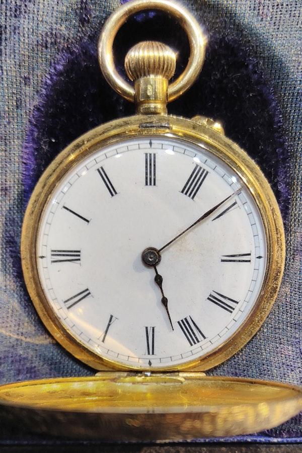 Antique Lady's Half Hunter Pocket Watch C1900. - image 5