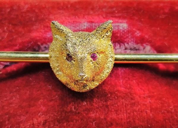 Antique Fox Riding Brooch - image 3