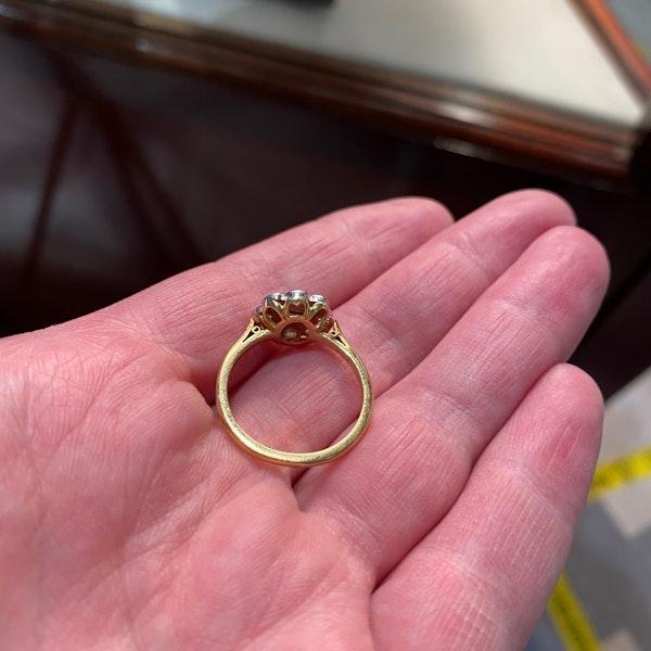 Ruby Diamond Ring in 18ct Gold date Birmingham 1968 SHAPIRO & Co since1979 - image 5