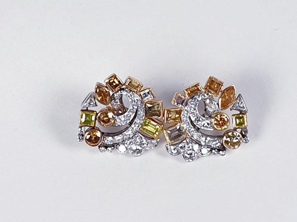 Awesome coloured diamond earrings sku 4809 DBGEMS - image 5