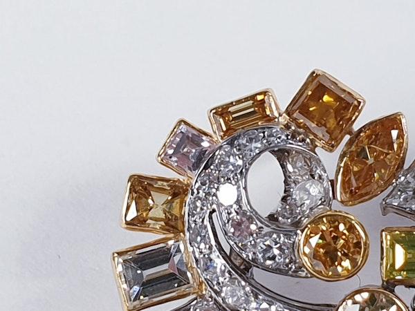 Awesome coloured diamond earrings sku 4809 DBGEMS - image 2