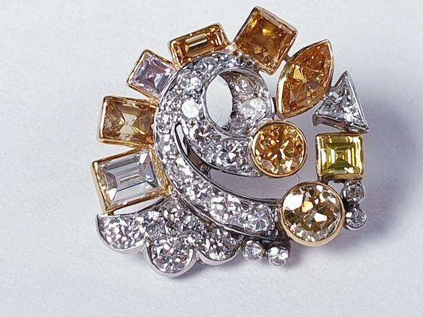 Awesome coloured diamond earrings sku 4809 DBGEMS - image 4