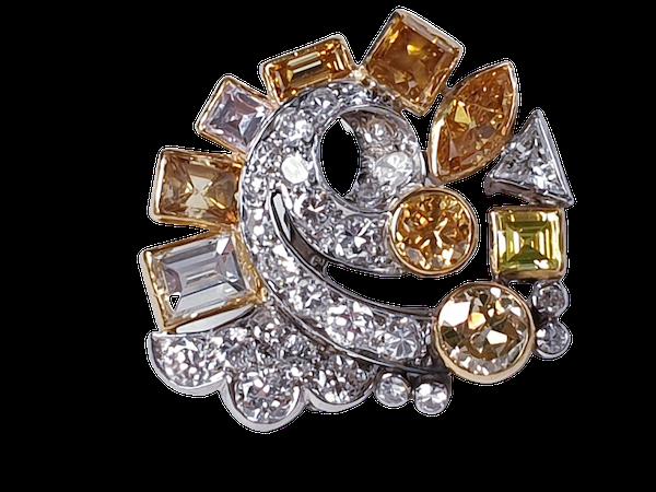 Awesome coloured diamond earrings sku 4809 DBGEMS - image 6
