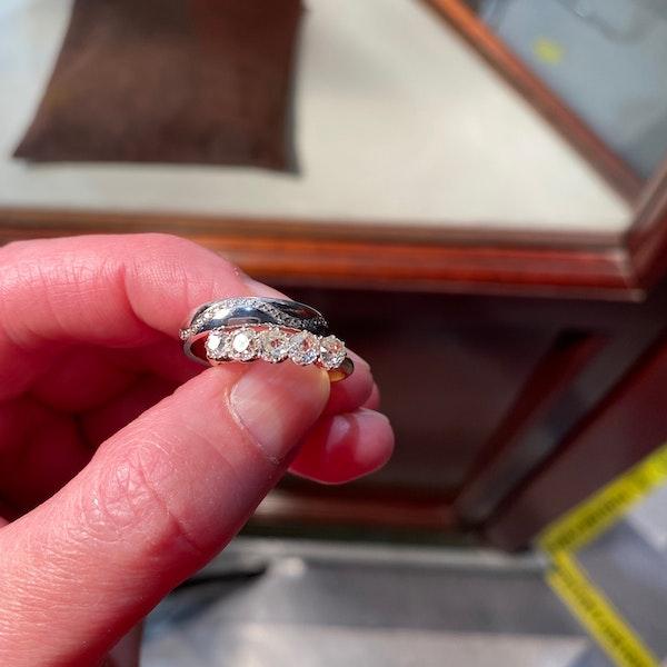 Wedding Band in 18ct White Gold & Diamonds date circa 2015 SHAPIRO & Co since1979 - image 8