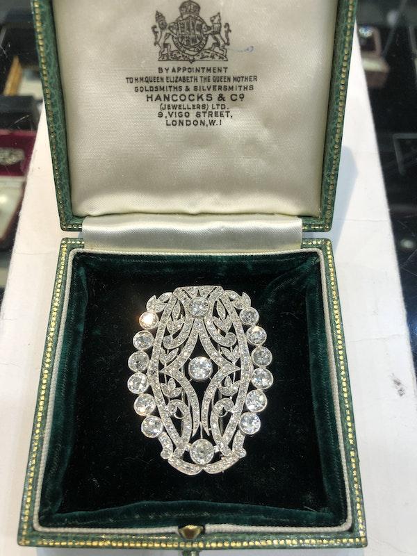 Art Deco Diamond Broach - image 2