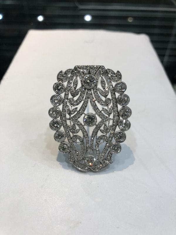 Art Deco Diamond Broach - image 3