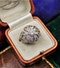 A very beautiful & stylish Art Deco Diamond Demi-Bombé Ring, mounted in Platinum, Circa 1935 - image 3