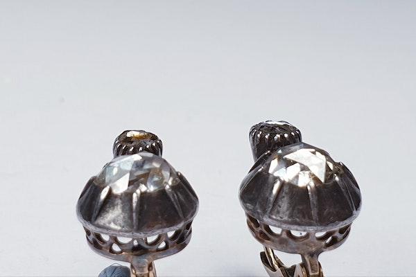 Chunky antique rose cut diamond drop earrings sku 4815  DBGEMS - image 2