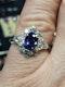 Rare natural purple sapphire and diamond ring sku 4819 - image 2