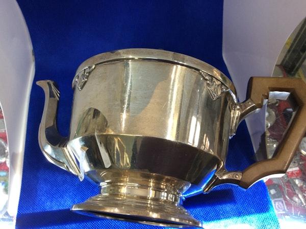 A silver Art Deco teapot - image 8
