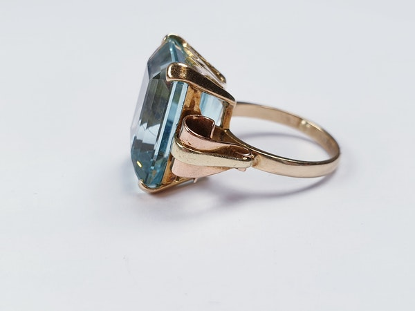 1930' Aquamarine dress ring sku 4822  DBGEMS - image 3