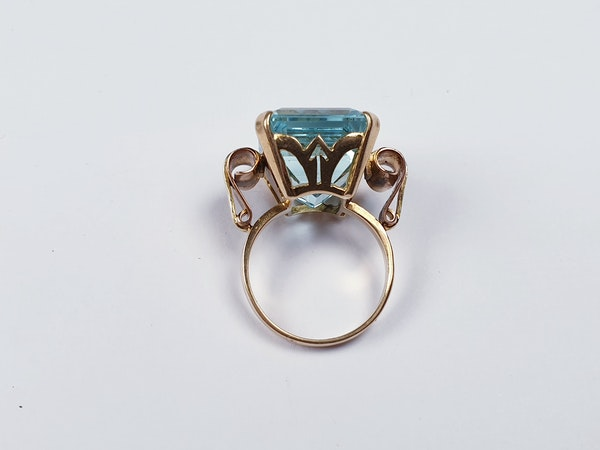 1930' Aquamarine dress ring sku 4822  DBGEMS - image 4