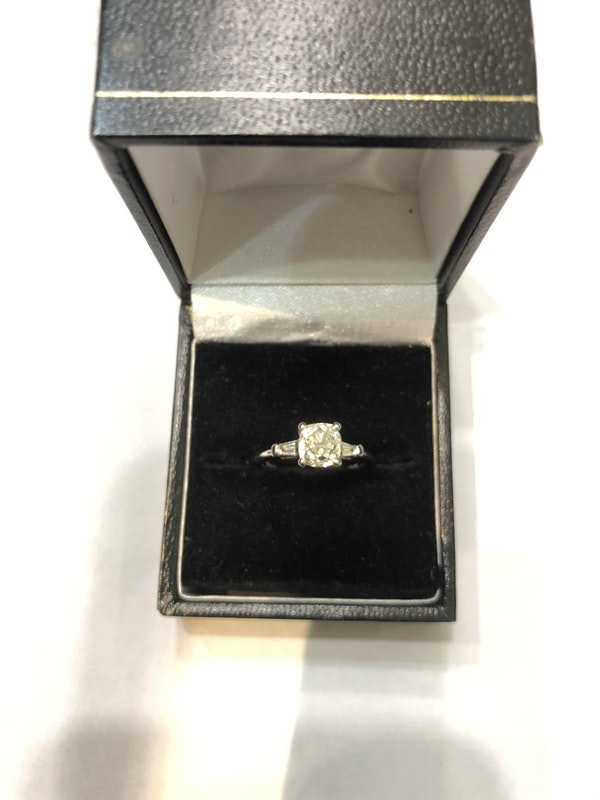 1.44ct nice cushion-cut diamond platinum ring - image 3