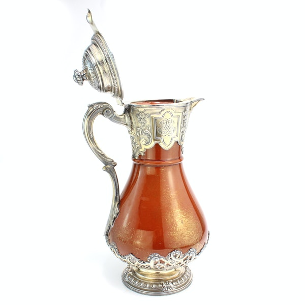 French silver and ceramic Claret Jug by Bointaburet with special design of ceramic by Clement Massier( 1844-1917) - image 6