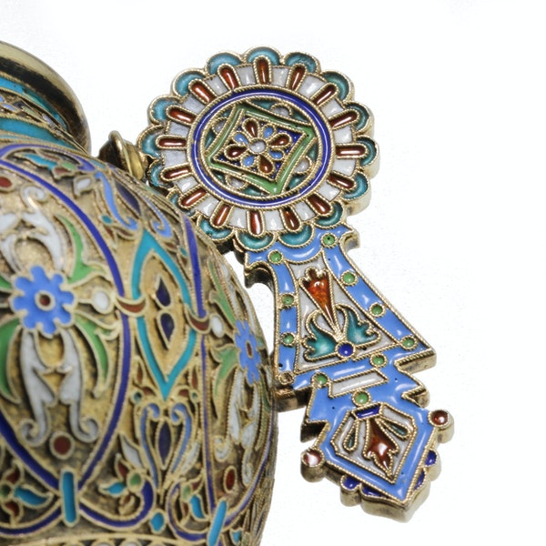 Russian silver and enamel cup and saucer, Ivan Saltykov, Moscow 1887 - image 7