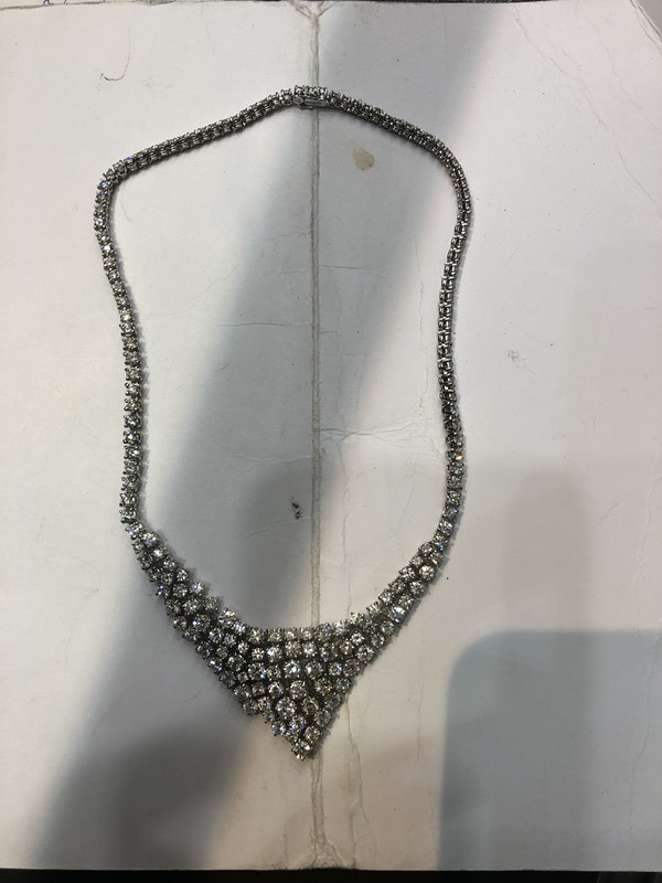 Modern diamond necklace - image 3