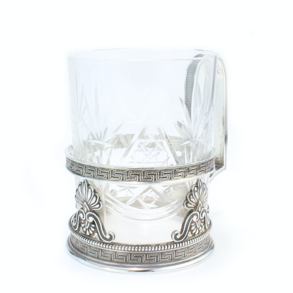 Faberge silver tea glass holder, Moscow c.1900 - image 2