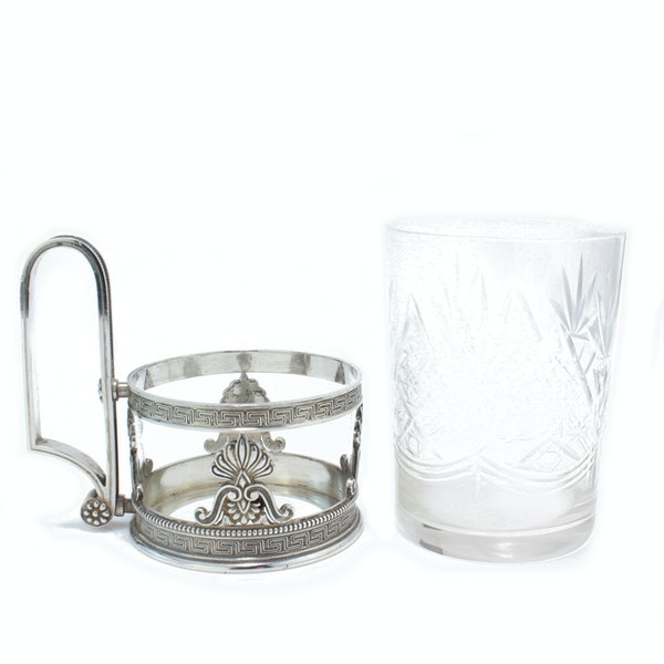 Faberge silver tea glass holder, Moscow c.1900 - image 4