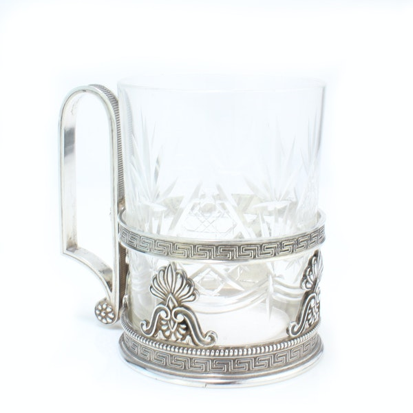 Faberge silver tea glass holder, Moscow c.1900 - image 3