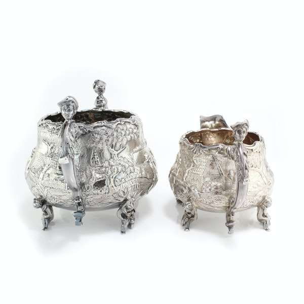 English silver creamer and sugar bowl by Joseph and John Angell, 1836,1840 - image 4