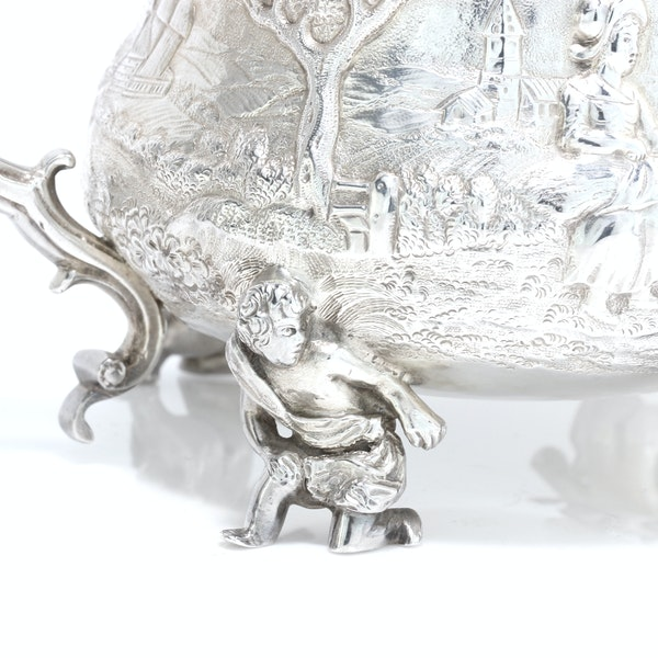 English silver creamer and sugar bowl by Joseph and John Angell, 1836,1840 - image 9