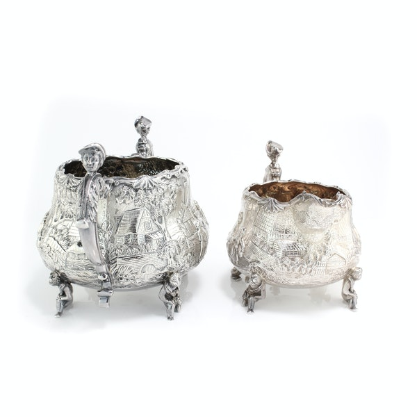 English silver creamer and sugar bowl by Joseph and John Angell, 1836,1840 - image 5
